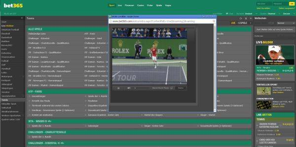 Screenshot des bet365 Live Streams