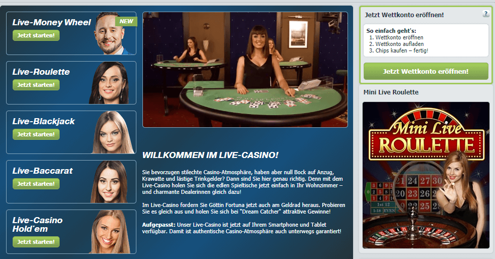 bet at home live casino app